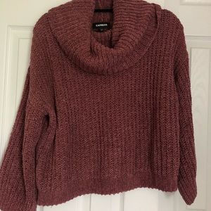EXPRESS knitted cowl neck sweater